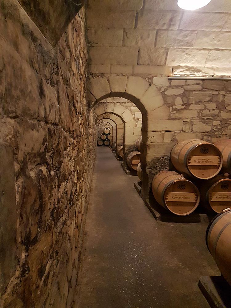 Barrel cellar at Bodegas Marqués de Riscal