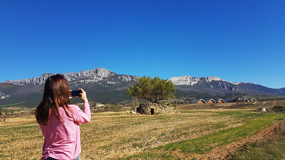 Views of the Sierra de Cantabria around Laguardia