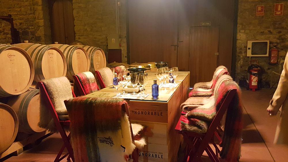 Comfortable atmosphere in the barrel cellar, Gómez Cruzado