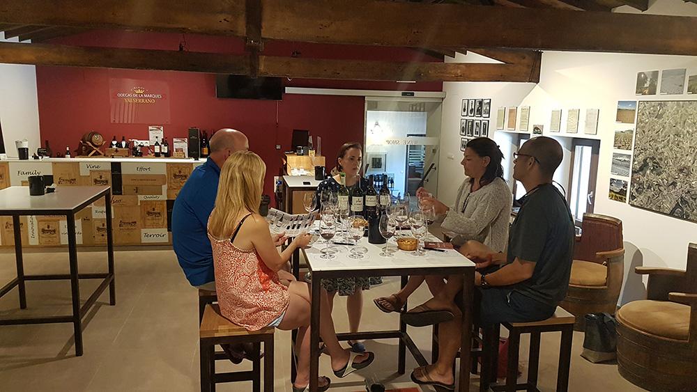 Private tasting at Bodegas de la Marquesa, in Villabuena de Álava