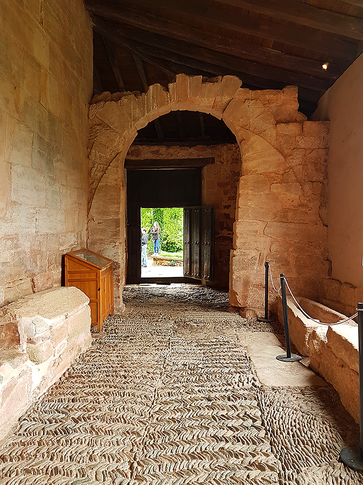 Entrance of the monastery of Suso in San Millán de la Cogolla