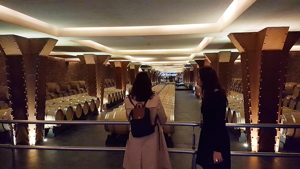 Barrel cellar in Vivanco, with an impressive wine museum