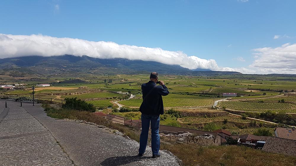 Views towards the Sierra de Cantabria in a summer day
