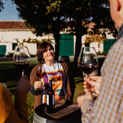 Tasting by the vineyards
