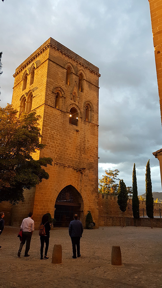 Abbot tower in the historical village of Laguardia